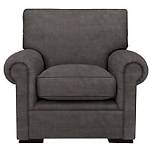 Buy John Lewis Romsey Armchair, Pendle Woven Chenille Charcoal Online at johnlewis.com
