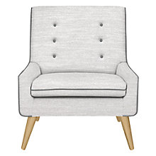 Buy John Lewis Olson Chair, Milton Silver and Athena Charcoal Online at johnlewis.com