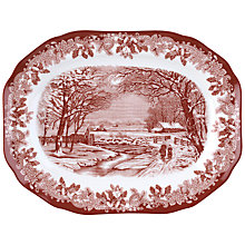 Buy Spode Winter's Scene Serving Platter Online at johnlewis.com