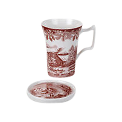 Spode Winter's Scene Mug and Coaster Set