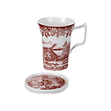 Buy Spode Winter's Scene Mug and Coaster Set Online at johnlewis.com