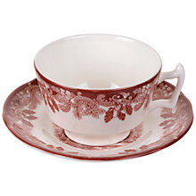 Buy Spode Rural Delamere Woodland Winter Scene, Cup and Saucer Set Online at johnlewis.com