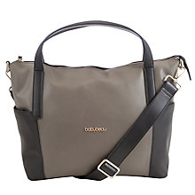 Buy BabyBeau Sophia Leather Bag, Black/Grey Online at johnlewis.com