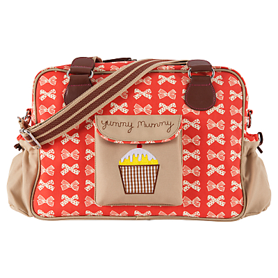 Pink Lining Yummy Mummy Changing Bag RedCream Bows