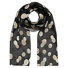 Buy Jacques Vert Spot Scarf, Multi Malt Online at johnlewis.com