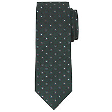 Buy Richard James Mayfair Flower Pattern Silk Tie, Burgundy Online at johnlewis.com