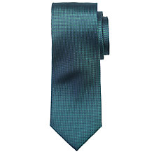 Buy Richard James Mayfair Semi Plain Texture Tie, Green Online at johnlewis.com