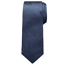 Buy Chester By Chester Barrie Tonal Paisley Tie, Navy Online at johnlewis.com