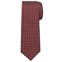 Buy Chester By Chester Barrie Mini Diamond Tie, Burgundy Online at johnlewis.com