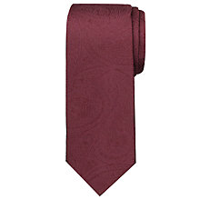 Buy Chester By Chester Barrie Tonal Paisley Tie, Burgundy Online at johnlewis.com