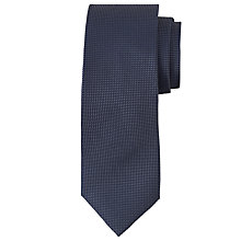 Buy Richard James Mayfair Semi Plain Texture Tie, Navy Online at johnlewis.com