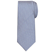 Buy Chester By Chester Barrie Puppytooth Silver Tie, Blue/White Online at johnlewis.com