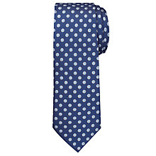Buy Chester by Chester Barrie Large Circle Dot Tie, Navy/Blue Online at johnlewis.com