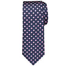Buy Chester By Chester Barrie Large Circle Dot Tie, Navy/Pink Online at johnlewis.com