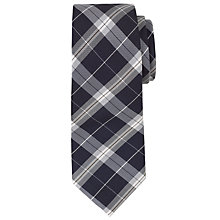Buy Richard James Mayfair Check Tie, Navy/Cream Online at johnlewis.com