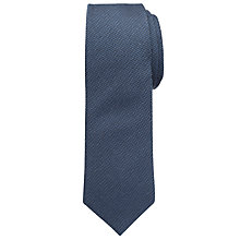 Buy Chester by Chester Barrie Plain Texture Tie, Navy Online at johnlewis.com