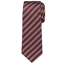 Buy Chester by Chester Barrie Satin Dash Stripe Tie, Burgundy/White Online at johnlewis.com