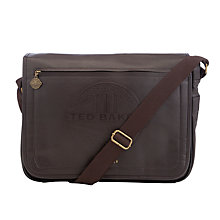 Buy Ted Baker Joeys Embossed Messenger Bag Online at johnlewis.com