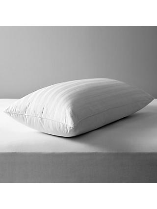 John Lewis & Partners Natural Collection Siberian Goose Feather and Down Kingsize Pillow, Medium/Firm
