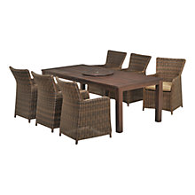 Buy Regency 6 Seater Dining Set, Brown Online at johnlewis.com