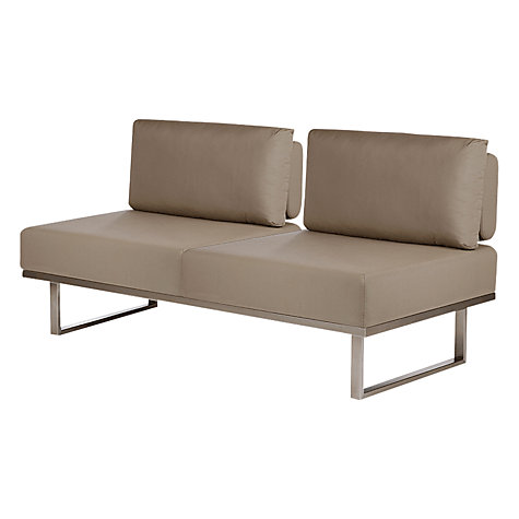Buy Barlow Tyrie Mercury Deep Seating Middle Double Module Online at johnlewis.com