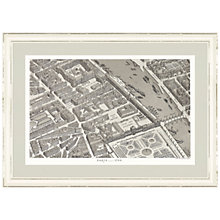 Buy Anonymous - Paris Map Framed Print, 68 x 100cm Online at johnlewis.com