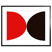 Buy Sir Terry Frost - Red, Black and White Framed Print, 63 x 83cm Online at johnlewis.com
