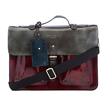 Buy Ted Baker Lefonz Leather Bag, Dark Red Online at johnlewis.com
