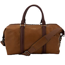 Buy Ted Baker Huntor Leather Holdall, Tan Online at johnlewis.com