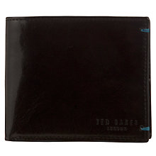 Buy Ted Baker Asiago Bright Billfold Wallet, Black Online at johnlewis.com
