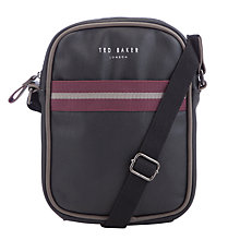 Buy Ted Baker Smalbag Flight Bag, Black Online at johnlewis.com