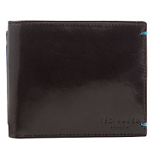 Buy Ted Baker Camem Bright Billfold Wallet, Black Online at johnlewis.com