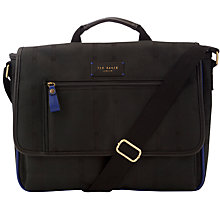 Buy Ted Baker Blumon Check Doctor's Bag, Black Online at johnlewis.com