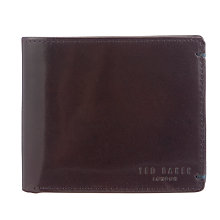 Buy Ted Baker Provols Bifold Leather Wallet, Chocolate Online at johnlewis.com