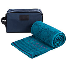 Buy Ted Baker Washbag & Towel Set, Blue Online at johnlewis.com