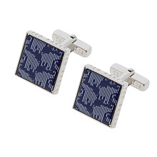 Buy Ted Baker Felton Stripe Elephant Cufflinks, Blue Online at johnlewis.com
