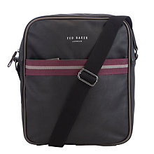 Buy Ted Baker Poppov Flight Bag, Black Online at johnlewis.com