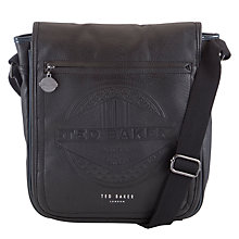 Buy Ted Baker Jays Embossed Flight Bag, Black Online at johnlewis.com