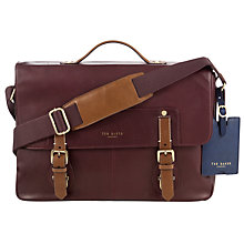 Buy Ted Baker Aroseco Leather Messenger Bag Online at johnlewis.com