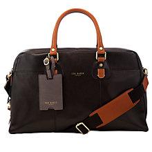 Buy Ted Baker Klow Leather Doctor's Bag, Black Online at johnlewis.com