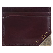 Buy Ted Baker Korna Embossed Card Pocket, Chocolate Online at johnlewis.com