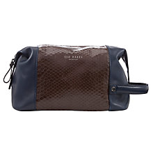 Buy Ted Baker Abreto Embossed Washbag, Navy Online at johnlewis.com