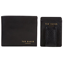 Buy Ted Baker Purcius Leather Wallet & Card Holder, Black Online at johnlewis.com