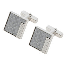 Buy Ted Baker Didcot Square Cufflinks, Black Online at johnlewis.com