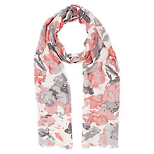 Buy Windsmoor Blurred Floral Print Scarf, Multi Dark Online at johnlewis.com