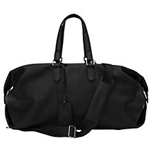 Buy Reiss Hines Weekend Leather Holdall Bag, Black Online at johnlewis.com