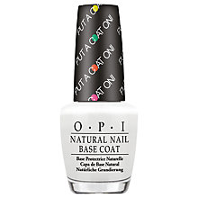 Buy OPI Nails - Put A Coat On! Base Coat, 15ml Online at johnlewis.com
