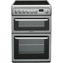 Buy Hotpoint DSC60S Electric Cooker, Silver Online at johnlewis.com