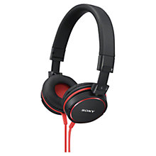 Buy Sony MDR-ZX610 On-Ear Headphones with Mic/Remote Online at johnlewis.com