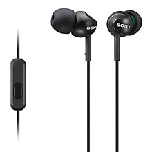 Buy Sony MDR-EX110AP In-Ear Headphones with Mic/Remote Online at johnlewis.com